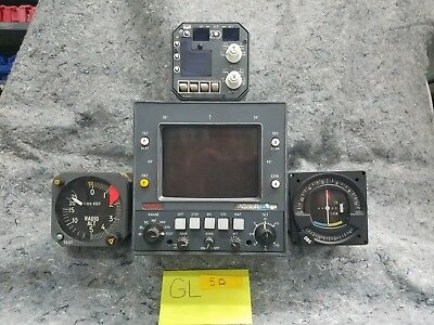 Lot of 3 and 1 Radio Airplane Gauges GL5D