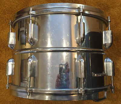 10 X 14 Heavy Beaded Brass Snare Drum Vintage Early Boosey & Hawkes Ajax ?