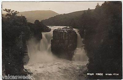 MIDDLETON IN TEESDALE - High Force Waterfall - c1900s era Real Photo postcard