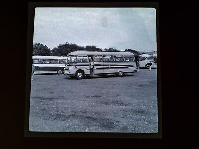 Orig Negatives 1950s  Ryde Isle Of Wight Coach Park Vintage Bus CHARABANC Int