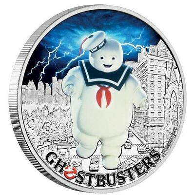 STAY PUFT GHOSTBUSTERS 1 Oz Silver Coin 1$ Tuvalu 2017  3rd IN SERIES