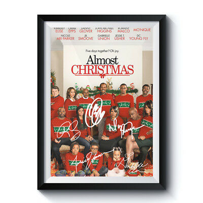 ALMOST CHRISTMAS Casts Autograph Poster Reprint Movie Home Art Wall Room Deco