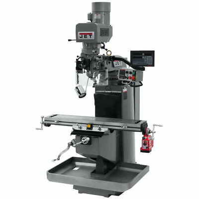 Jet 690545 JTM-949EVS Mill w/ 3-Axis Newall DP700 DRO (Quill) w/ X-Axis Pwrfeed