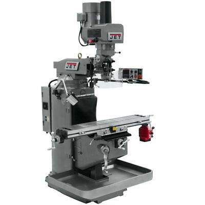 Jet 690502 JTM-949EVS Mill With X-Axis Powerfeed and Air Powered Draw Bar
