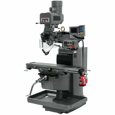 Jet 690610 JTM-1050EVS2/230 Mill w/ 3-Axis Acu-Rite VUE DRO (Knee) w/ X-Axis Pwr