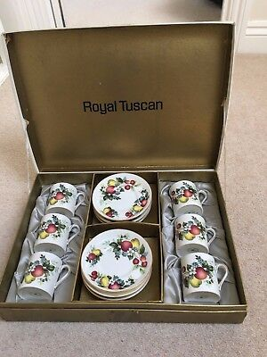 Royal Tuscan Fine Bone China Coffee Set (6 Piece)