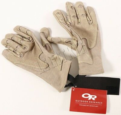 NEW Outdoor Research OR Overlord Short Gloves LARGE Tan Nomex/Leather 70152 FR