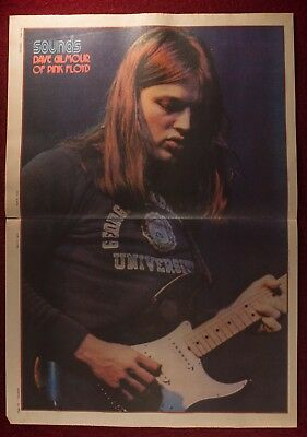 Dave Gilmour - Pink Floyd -Sounds Magazine Poster - April 1972