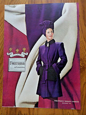 1944 Forstmann Fashion Virgin Wool Ad