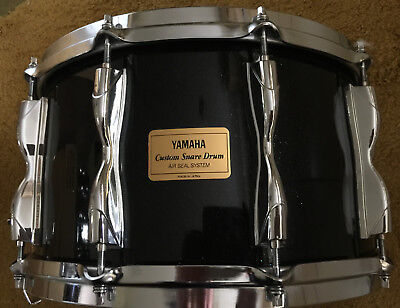 Yamaha 8 X 14 Rock Tour Custom Snare Drum Black Sparkle Early 90's Japan Rsd 088