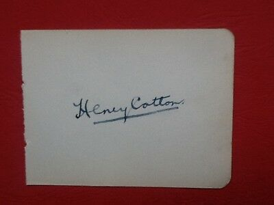 Henry Cotton, Autograph of the famous British Open winner & Ryder Cup Captain