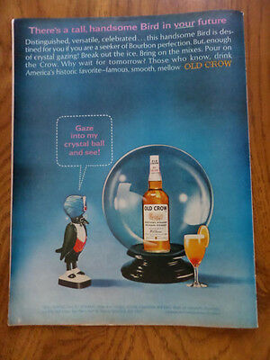 1965 Old Crow Whiskey Ad Gaze into my Crystal Ball & See