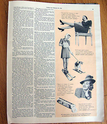 1939 Original Life Savers Candy Ad  Schnauzer Terrier Dog