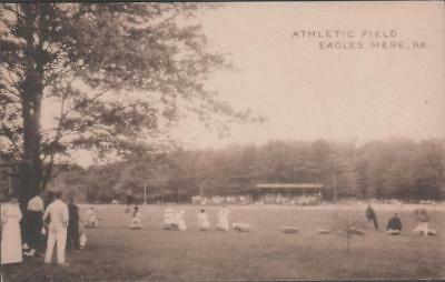 1916 Baseball Stadium RPPC Postcard Eagles Mere PA Postmarked