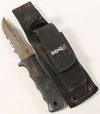 "SOG Seal Pup 4.75"" Fixed Blade Knife w/ Serrated Edge & Nylon Sheath SEAL NSW"