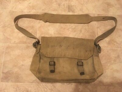 1939 Dated WW2 RAF Haversack Clear Air Ministry Stamp & Service Number