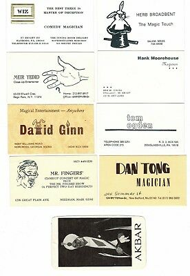 Magic business cards - great old collection from the 1970s and 1980s