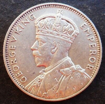 1934 Mauritius 1/4  Rupee, nice silver coin, mint luster, AU ++- unc.