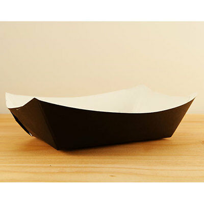 SOLID BLACK #200 4/250  PAPER FOOD TRAY SQP  2lb           SOLID        BLACK