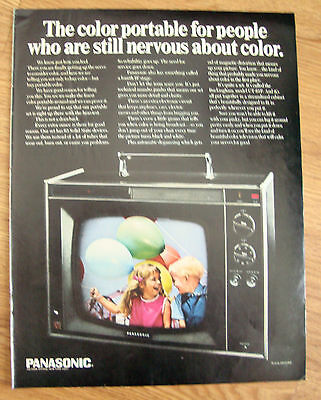 1968 Panasonic Television TV Ad Buckingham Model CT-61P