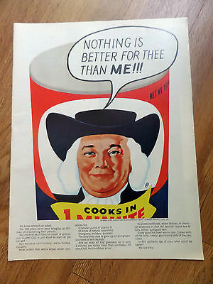 1966 Quaker Oats Cereal Ad  Nothing is Better for Thee than Me