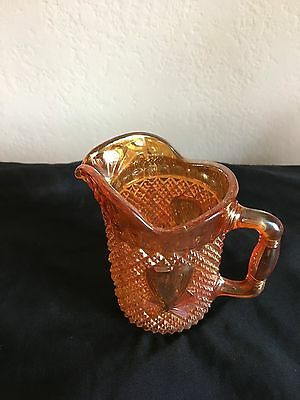 Amber Coloured Lustre Glass Jug