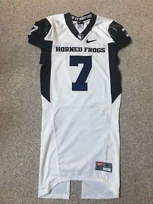 TCU Horned Frogs Team Game Used Nike Game Football Jersey