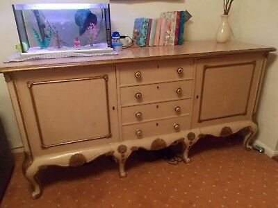 Beautiful Antique Large Sideboard/table/dresser/unit French/Italian rococco