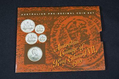 1910 Australian Coinage Of King Edward Vii (4) Coin Pre-Decimal Set