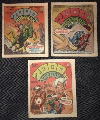 2000AD PROGS #149,150 & 151 (FIRST JUDGE DEATH AND JUDGE ANDERSON) Bundle 1980