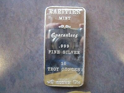 Low Serial 42 Rarities Mint 10 oz Silver Bar - Hard to find with serial numbers