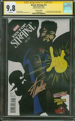 Doctor Strange 12 CGC SS 9.8 Stan Lee Signed Convention India Variant art Movie