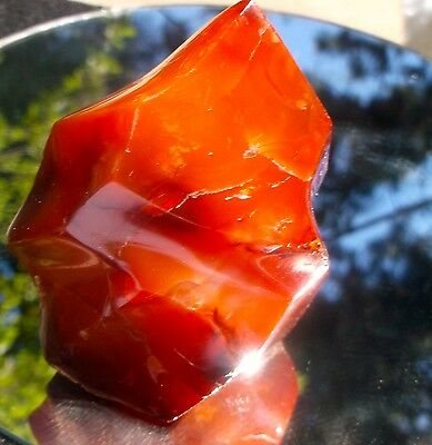 Carnelian Agate Natural Free Standing Polished Sculpture 224 Grams or 7.9 Ounces