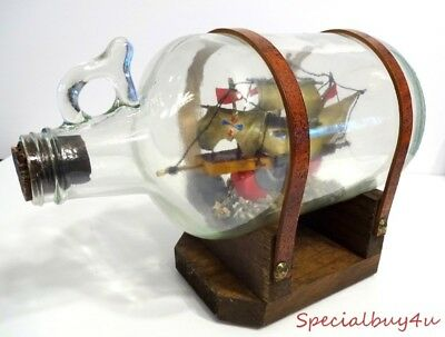 Vintage Ship in a Bottle Antique Collectible