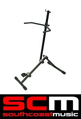 Fully Adjustable Double Bass Stand - Easy Access To Your Instrument & Bow New