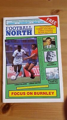 Football North Magazine - Focus on Burnley c .1988 Dave Mackay Doncaster Rovers