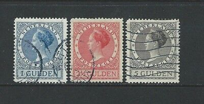 Netherlands - #161-#163 - Queen Wilhelmina Used Set (1926-1927)