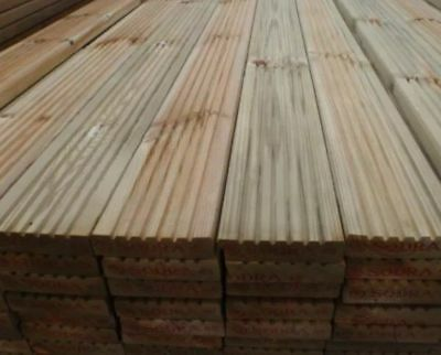 Decking Boards - Premium Quality Treated Redwood - 4.8m lengths