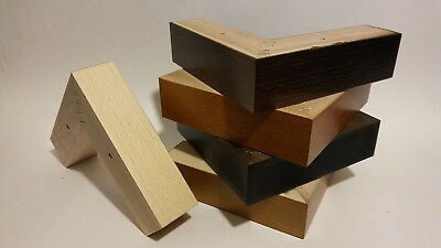 4 x REPLACEMENT WOODEN FURNITURE FEET/LEGS FOR SOFA, CHAIRS, STOOLS, CHEST