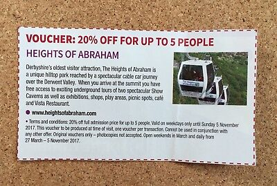 Heights of Abraham Voucher 20% OFF up to 5 People (01)