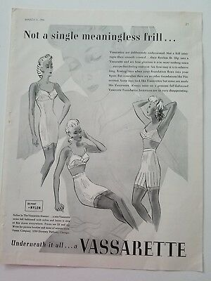 1941 Hollywood vassarette women's girdle not a single meaningless frill ad