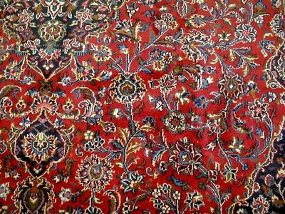 10X13 1940's GORGEOUS AUTHENTIC ANTQ HAND KNOTTED 70+YRS WOOL MASHAD PERSIAN RUG