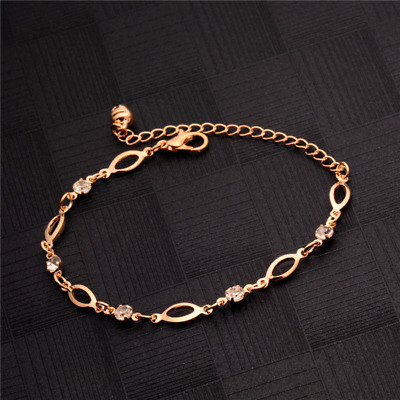 Bracelet 9ct Gold GF Diamond Chain Bangle Mother Gift Christmas Summer