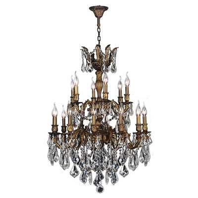 French Imperial Collection 18-light Antique Bronze Finish and Clear Crystal