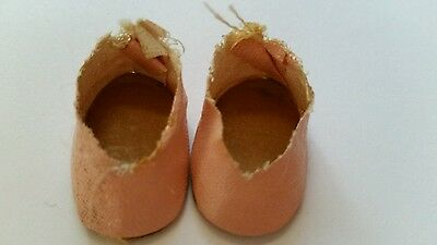 "PINK DOLL SHOES 1950's fits 8"" dolls size"