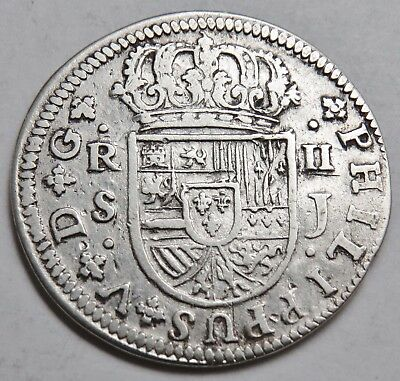 2 REALES 1721 SPANIEN , SILBER .903 , 28 mm , = 5.02 g