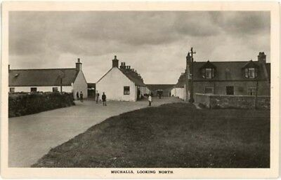"""Kincardine Muchalls - """"looking North"""" + Cottages Real Photo Posted 1913."""