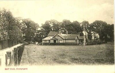 """Middlesex Stanmore - """"golf Club"""" + Club House - Chester Vaughan Postcard 1904."""