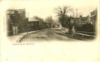 """Middlesex Stanmore - """"london Road"""" - Chester Vaughan Postcard 1904."""