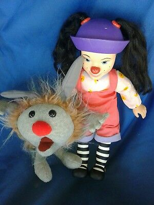 """Big Comfy Couch Loonette 15"""" Non-talking Clown Doll With 1 Dust Bunny ."""